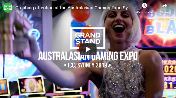 Grabbing attention at the Australasian Gaming Expo Sydney 2019