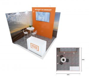Exhibition display stand - Cable Beach