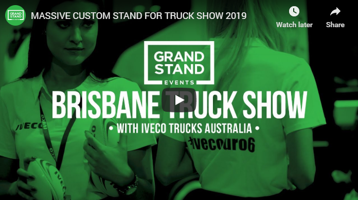 See our massive Iveco Trucks custom exhibition stand build for Truck Show 2019