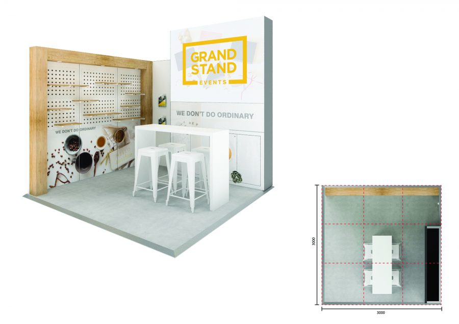 Exhibition display stand - Mandalay Beach