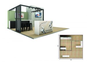 Exhibition stand design - Parsley Bay