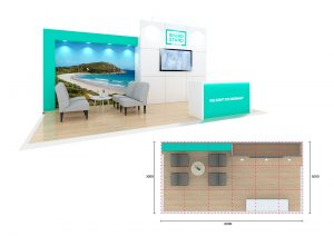 Exhibition stand design - Refuge Cove
