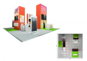 Exhibition stand design - Target Beach