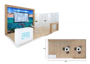 Exhibition display stand - Turquoise Bay