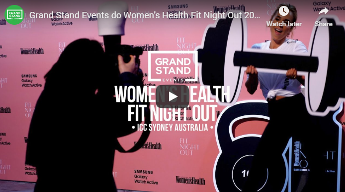 Grand Stand Events do Women's Health Fit Night Out 2019