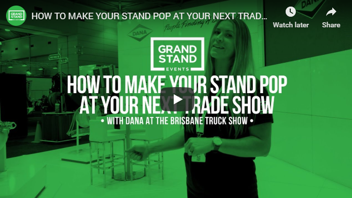 How to make your stand pop at your next trade show